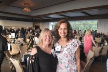 Jacqui Sweet and Donna Francavilla of Frankly Speaking Communications at the Positive Maturity gala. (Karim Shamsi-Basha / Alabama NewsCenter)
