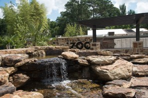 The Birmingham Zoo's entrance has undergone extensive renovations. (Brittany Faush/Alabama NewsCenter)