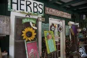 Laura Catherine Moon's personality emerges from the many signs and messages at Wildflower Café. (Brittany Faush/Alabama NewsCenter)