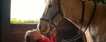 The sheer joy can be seen from Storybook Farm visitors as they interact with the horses. (contributed)