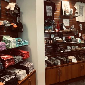 Vulcan Park and Museum gift shop also sells T-shirts and mugs. (Keisa Sharpe)