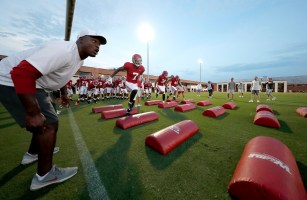 Alabama defensive back Trevon Diggs (7) practices with the Tide. (Robert Sutton/University of Alabama Athletics)