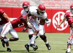 Alabama running back Najee Harris (22). (Kent Gidley/University of Alabama Athletics)