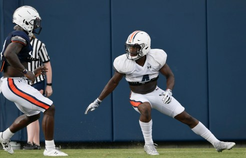 Marquis McClain, left, and Noah Igbinoghene. (Todd Van Emst/AU Athletics)