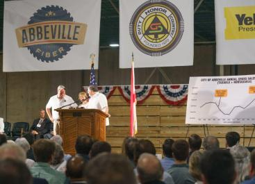 Great Southern Wood CEO Jimmy Rane led the effort to bring the former Westpoint Stevens property in Abbeville back to life as a $40 million modern sawmill. (Sydney A. Foaster/Governor's Office)