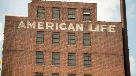 The American Life/Stonewall building, vacant for more than 30 years, is being redeveloped using Opportunity Zone tax breaks. (Dennis Washington / Alabama NewsCenter)