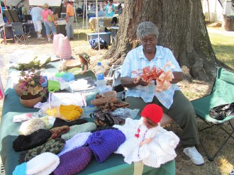 Handmade crafts include quilts and other needlework, baskets from white oak, pine needles and corn shucks. (contributed)