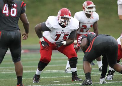Right tackle Brandon Anderson is among West Alabama's returning standouts. (West Alabama Athletics)