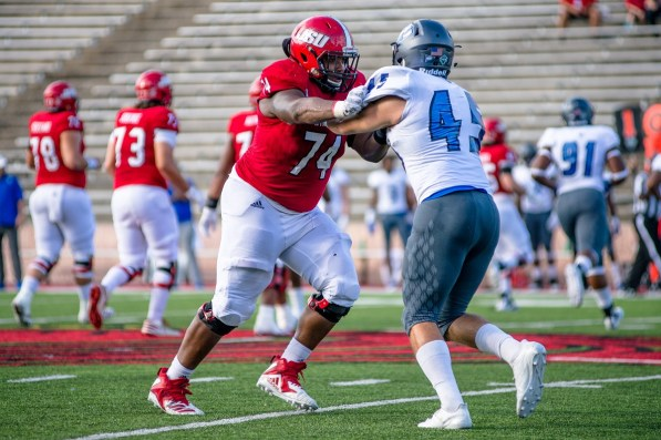 Returning standout Darius Anderson is a likely leader on a mostly young JSU offensive line. (Jacksonville State University Athletics)