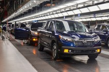 Employees at Honda's facility in Lincoln assemble a Honda Ridgeline. (contributed)