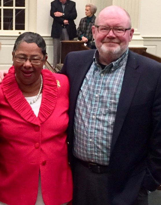 Executive Director Frances Ford with Mart Gray, the first coordinator of CBF and one of the founders of Sowing Seeds of Hope. (CBF Alabama)