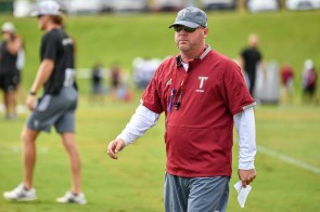 Chip Lindsey began his college coaching career as an assistant at Troy. Now he's back as head coach. (Troy University Athletics)