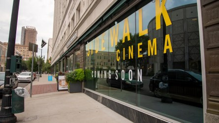The new Sidewalk Cinema is in the basement of the Pizitz Food Hall on 2nd Avenue North in downtown Birmingham. (Dennis Washington / Alabama NewsCenter)