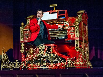 In addition to films, Sidewalk plans tons of special events. One of them is pictured here - Nathan Avakian plays the Alabama Theatre's famous theatre organ along with silent films. (Joe DeSciose)