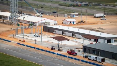 The new Celebration Plaza inside the Talladega Garage Experience. (Dennis Washington / Alabama NewsCenter)