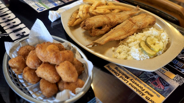 Greenbrier Restaurant hushpuppies and catfish are on the list of 100 Dishes to Eat in Alabama Before You Die