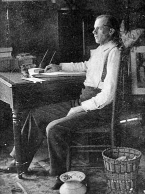Author and columnist Francis Bartow Lloyd in the study of his farmhouse outside Greenville. (From Encyclopedia of Alabama)