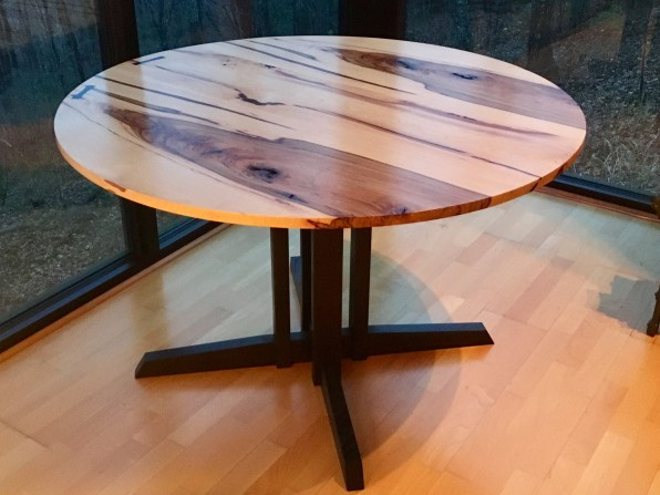 Cotten's wood creations feature tables of many varieties. (Laurens Cotten)