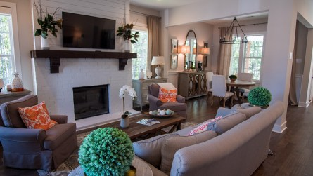The den of the model home. (Dennis Washington / Alabama NewsCenter)