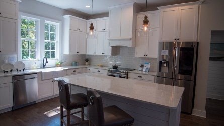 The kitchen of the model home. (Dennis Washington / Alabama NewsCenter)