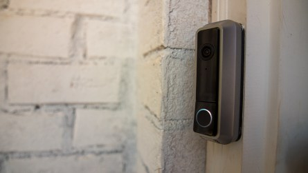 The Nest doorbell on the model home. (Dennis Washington / Alabama NewsCenter)