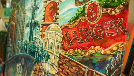New Orleans and Mobile heavily influence Ginger Woechan's paintings. (Dennis Washington / Alabama NewsCenter)