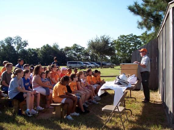 Landmark Park offers many classes for schoolchildren, such as this workshop about bees. (Laura Stakelum/Landmark Park)