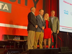 A panel on Smart Neighborhoods at the Smart City Expo Atlanta includes representatives from Alabama Power and Southern Company. (Justin Averette/Alabama NewsCenter)