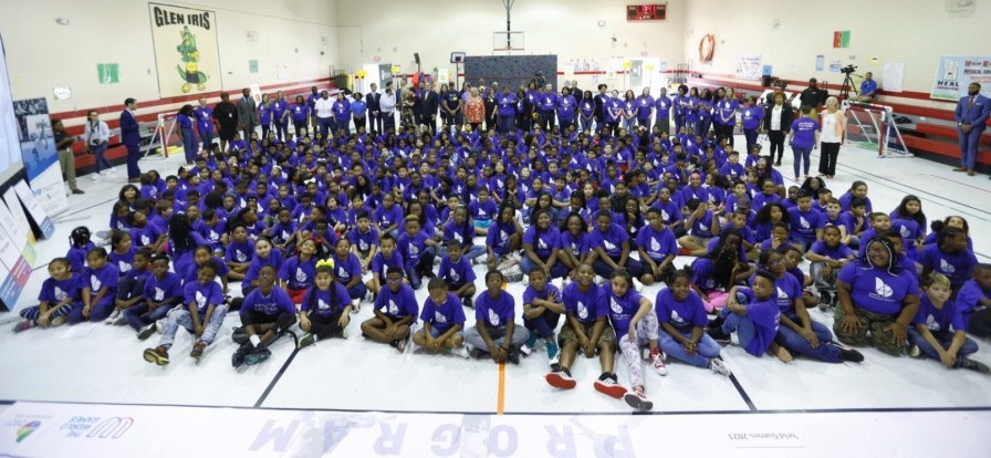 Birmingham Mayor Randall Woodfin joined city school officials, World Games 2021 officials and Blue Cross and Blue Shield of Alabama to kick off the new education program tied to the World Games. (contributed)