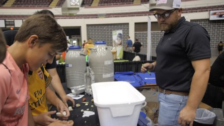 Students learn more about chemical composition. (Dennis Washington / Alabama NewsCenter)