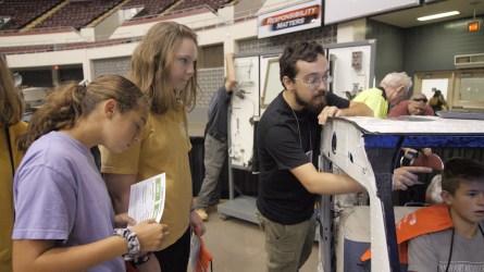 Students learn more about aeronautics. (Dennis Washington / Alabama NewsCenter)