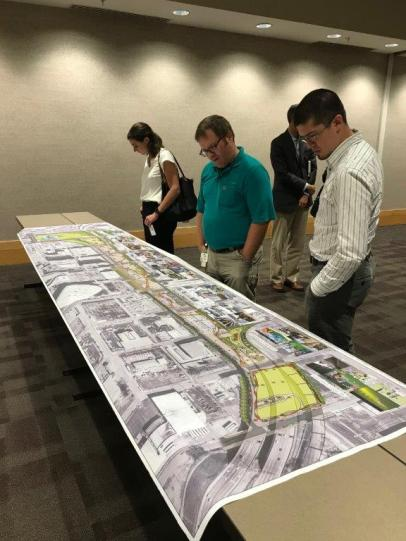 Though not yet final, plans and programming are taking shape for the CityWalk BHM development underneath the new Interstate 59/20 being built through downtown Birmingham. (Michael Sznajderman / Alabama NewsCenter)