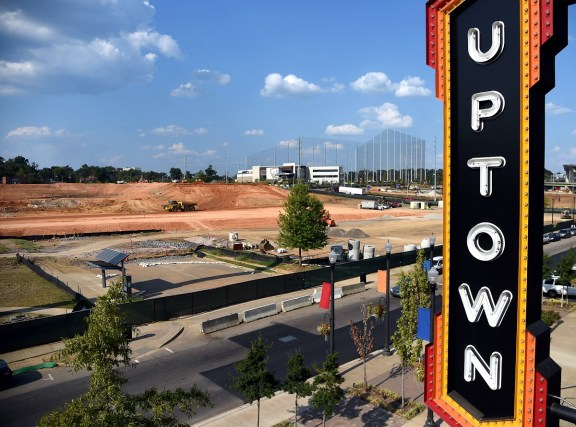 Site work continues for the Protective Stadium near the Uptown entertainment district at the Birmingham-Jefferson Convention Complex. (Mark Almond)