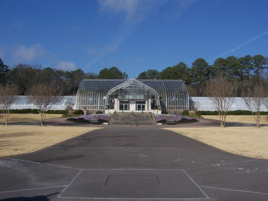 The Conservatory at the Birmingham Botanical Gardens, 2009. (AuburnPilot, Wikipedia)