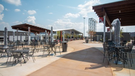Big Bill's Social Club is one of several new fan experiences at Talladega Superspeedway. (Dennis Washington/Alabama NewsCenter)