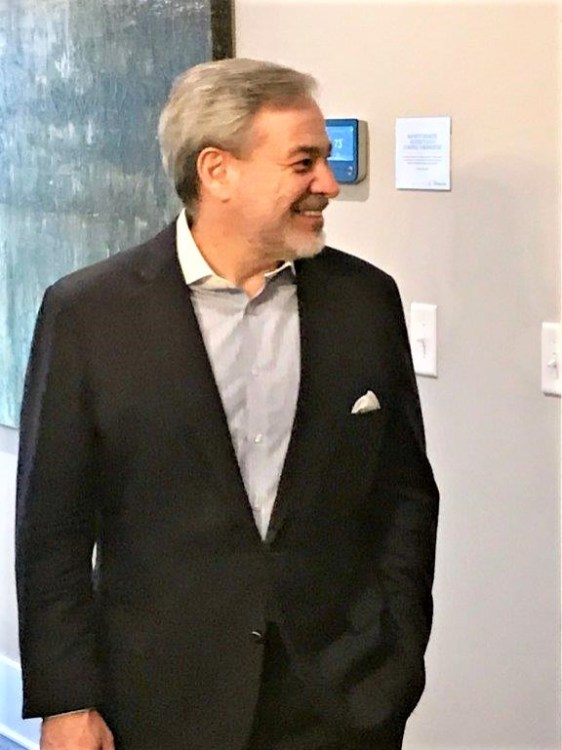 Deputy Secretary of Energy Dan Brouillette toured on of the Alabama Power Smart Homes in the Reynolds Landing Smart Neighborhood in Hoover. (Michael Sznajderman / Alabama NewsCenter)