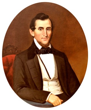 George Washington Foster (1806-1878) was a wealthy industrialist, planter, and philanthropist in Florence, Lauderdale County. He is also notable for building Courtview, his large and extravagant home that later became Rogers Hall at the University of North Alabama. (From Encyclopedia of Alabama, photo courtesy of the University of North Alabama)