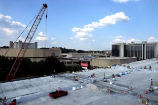 Construction continues on I-20/59 next to the Birmingham-Jefferson Convention Complex. (Mark Almond/The Birmingham Times)