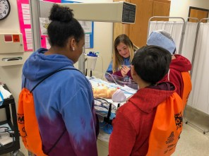 Students learn about career options in the healthcare industry during Worlds of Work at Bevill State Community College in Hamilton. (Melinda Weaver / Alabama Power)