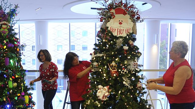 Alabama Power 'elves' decorate Christmas trees for Children's Hospital