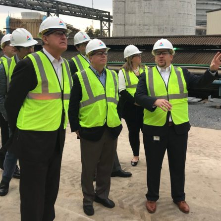 Senators take a tour at the National Carbon Capture Center. (Michael Sznajderman)