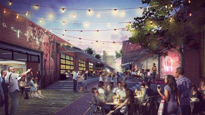 Property west of Birmingham Railroad Park and Region Field is envisioned as space for gathering for events and entertainment. (contributed)