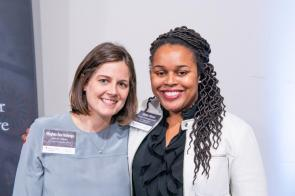 Attending the Alabama Power Foundation 30th Anniversary luncheon were Birmingham Museum of Art Deputy Director Meghan Ann Hellenga, left, and Literacy Council of Central Alabama Executive Director and President Katrina Watson. (Nik Layman / Alabama NewsCenter)