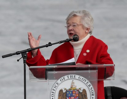 Gov. Kay Ivey decided to delay Alabama's primary runoff elections until July 14 because of coronavirus safety concerns. Ivey pointed out that the average age of poll officials puts them among those at highest risk from infection. (Hal Yeager/Governor's Office)