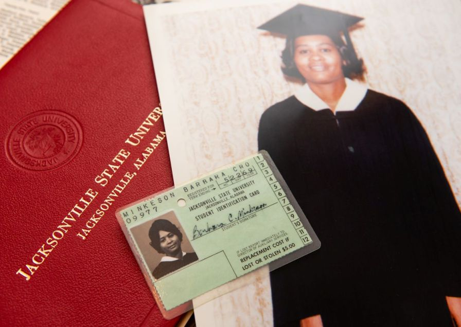 Earning her college degree was a life milestone for Curry-Story. (Nik Layman/Alabama NewsCenter)