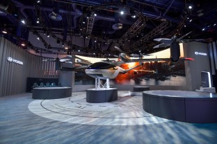 """The new """"flying car"""" is part of Hyundai's Smart Mobility Solution that includes mobile helipads and """"purpose-built vehicles"""" that can set up services to create mini airports as part of a new system. (Hyundai)"""