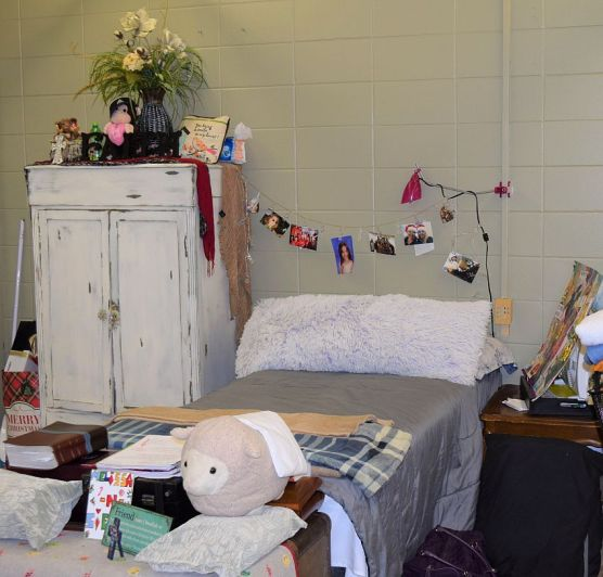 Each woman decorates her own space. (Donna Cope/Alabama NewsCenter)