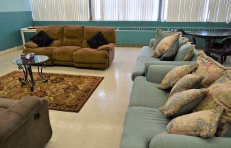 The cozy counseling room allows women to share their problems, fears and dreams. (Donna Cope/Alabama NewsCenter)