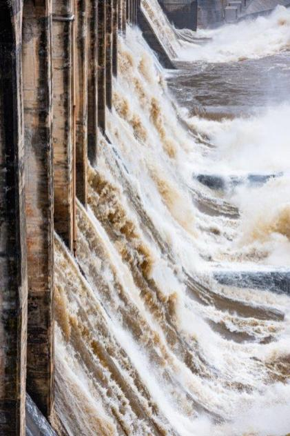 Alabama Power is opening spillway gates at its dams to help control lake levels after recent heavy rains. (Nik Layman / Alabama NewsCenter)