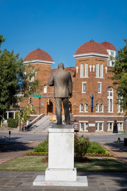 The 16th Street Baptist Church in Birmingham, Alabama was bombed on Sunday, September 15, 1963 as an act of white supremacist terrorism. The explosion at the African-American church, which killed four girls, marked a turning point in the United States 1960s Civil Rights Movement and contributed to support for passage of the Civil Rights Act of 1964. (ArchWorks)